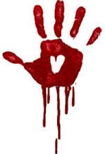 Bloody handprint 2