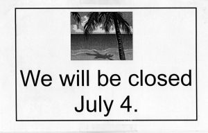 Closed July 4